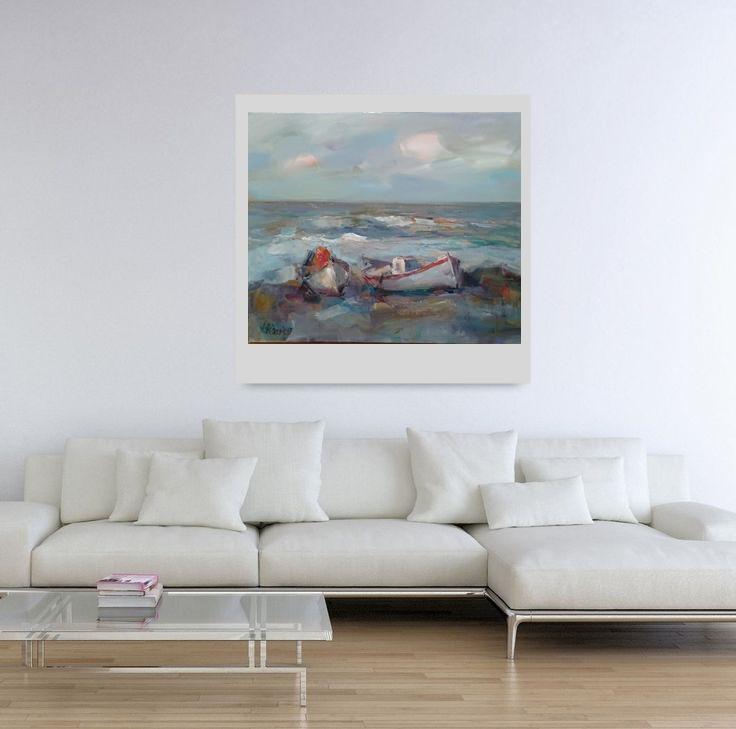 Ангелина Недин -Лодки край Морето-Живопис