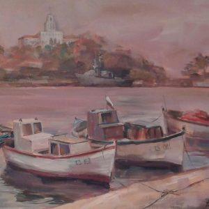 Ангелина Нендин Живопис Пристанището на Созопол