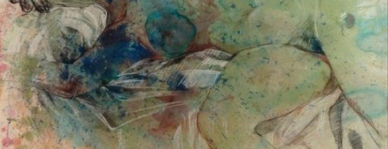 """""""Мечтание"""" Румянка Божкова Класическа Рисунка на Голо Тяло Живопис Смесена Техника"""