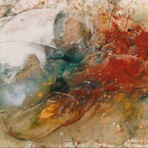Бялото Чадърче Румянка Божкова Класическа Рисунка на Голо Тяло Живопис Смесена Техника