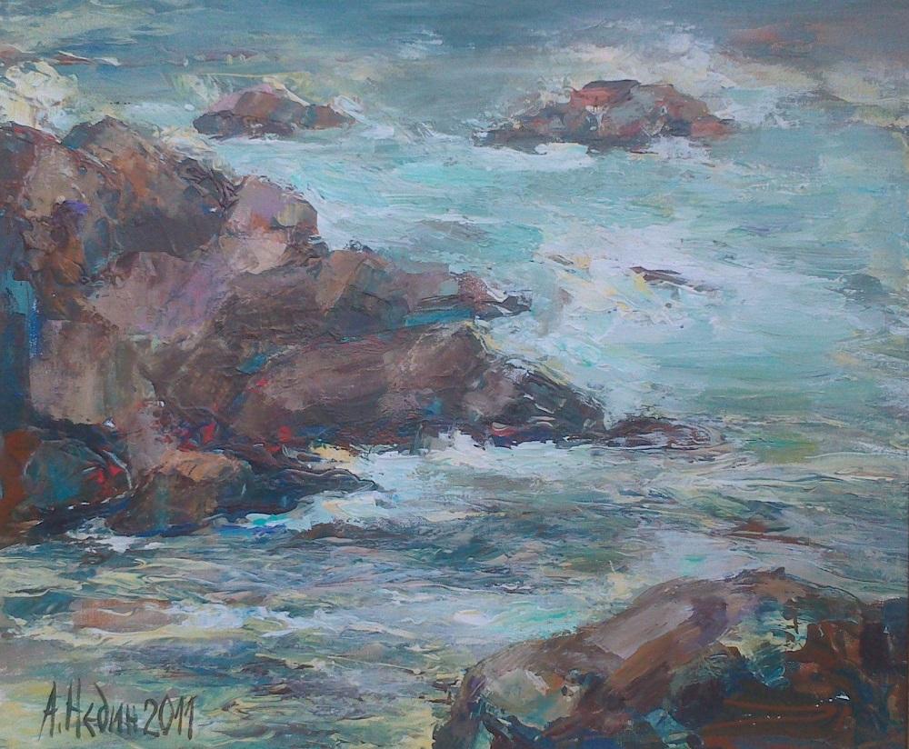 Море Ангелина Недин Морски пейзаж ,картина с маслени бои,живопис