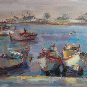 "Angelina Nedin ""PORT"" 2017 Painting"