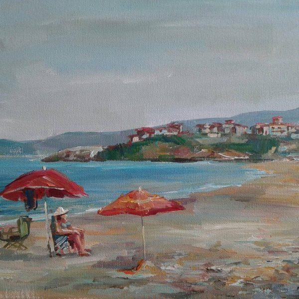 "Angelina Nedin 2017 Painting ""View to Saint Toma"""