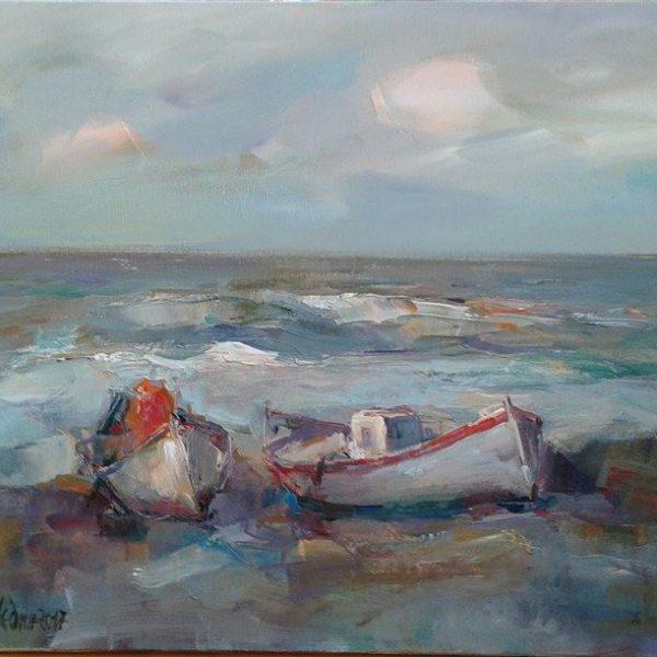 Angelina Nedin -Boats by the Sea