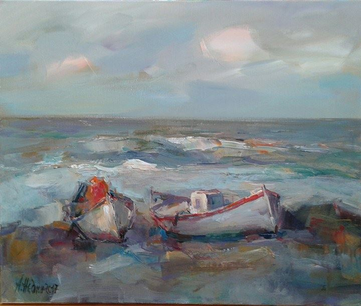 Angelina Nedin -Boats by the Sea
