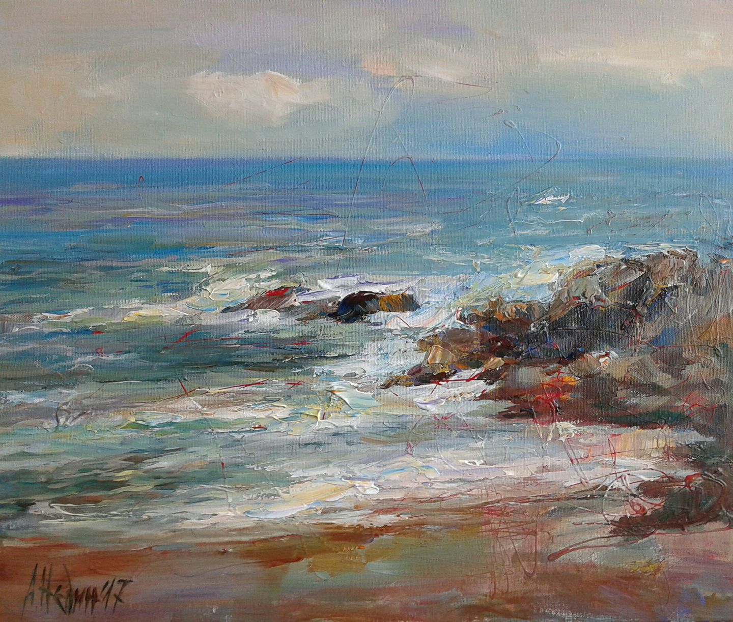 Angelina Nedin Seascape Painting