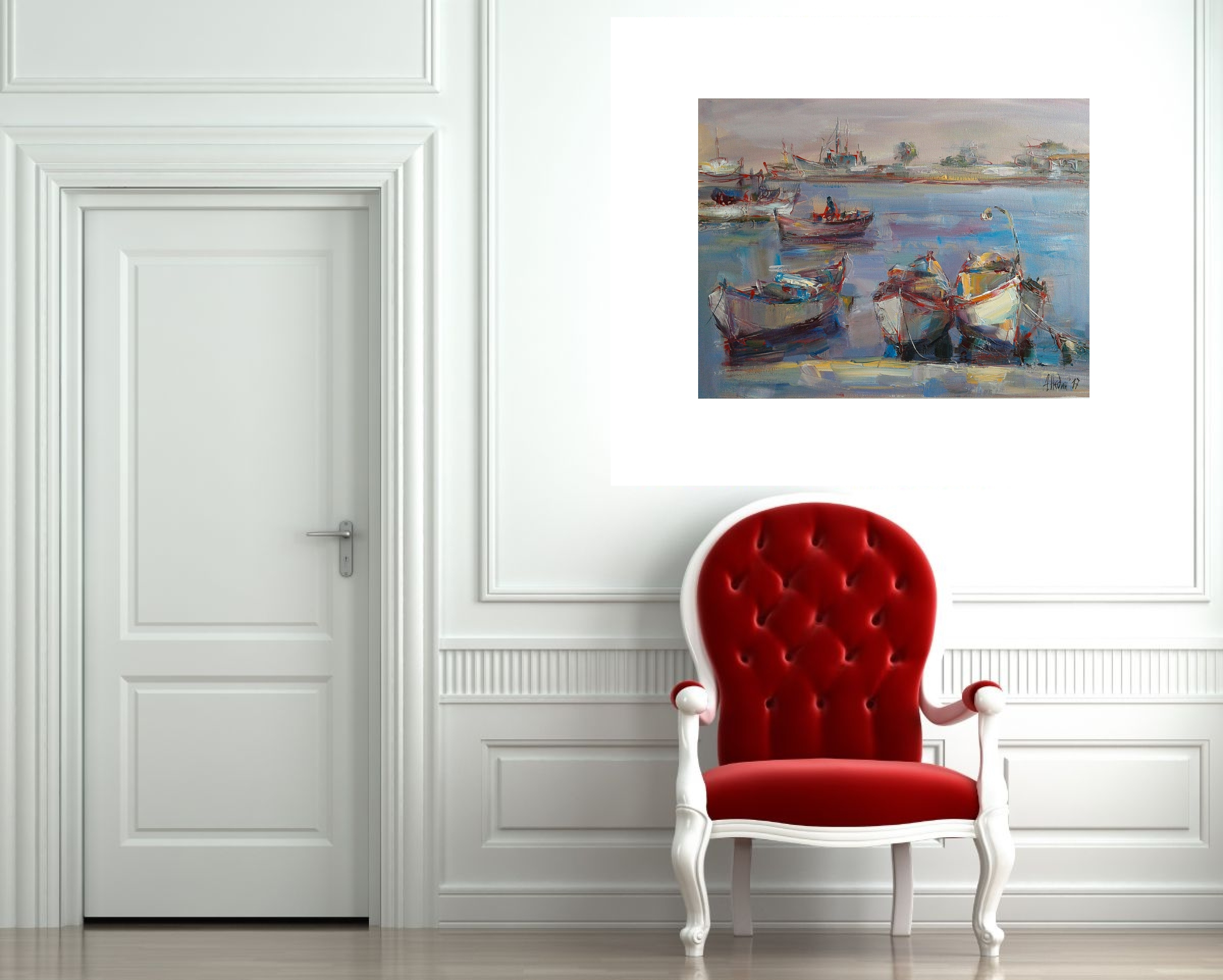 Angelina Nedin- Port-2017-Oil Painting