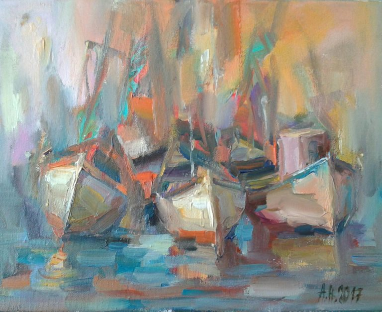 Angelina Nedin Sunset painting