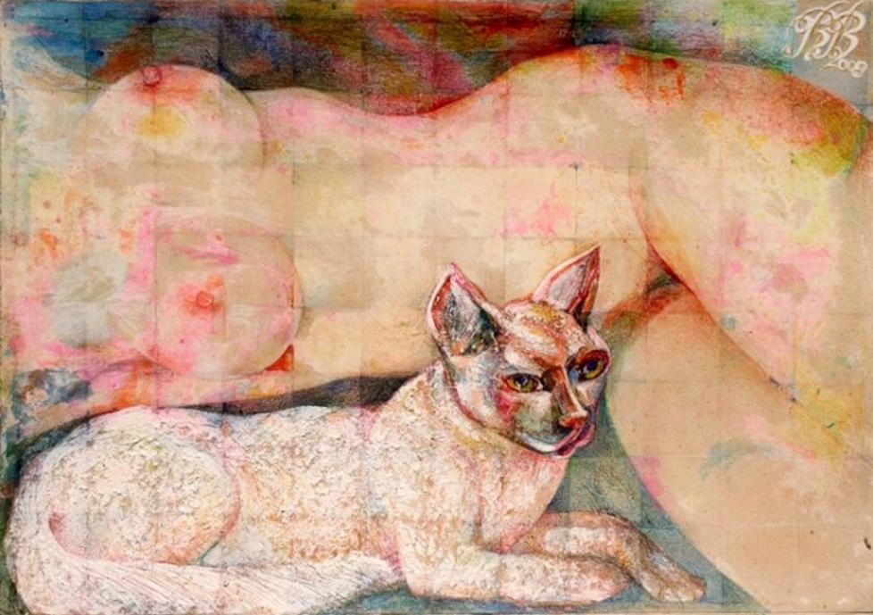 """Bodyguard"" Rumyanka Bozhkova Nude Painting"