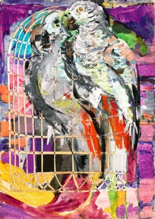 """Inside and Outside of the Cage"" Rumyanka Bozhkova Painting"