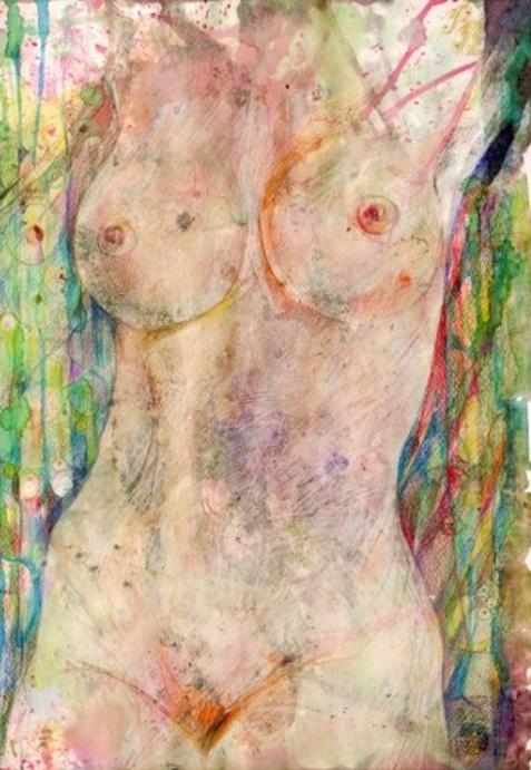"""Naked Body"" Rumyanka Bozhkova Nude Painting"