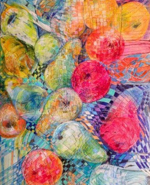 """Pink Pear"" Naturmort Painting Rumyanka Bozhkova"