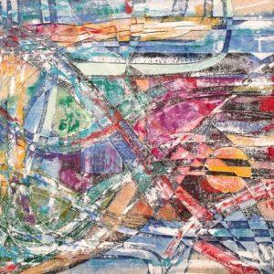 """Port""Rumyanka Bozhkova Abstract Painting"
