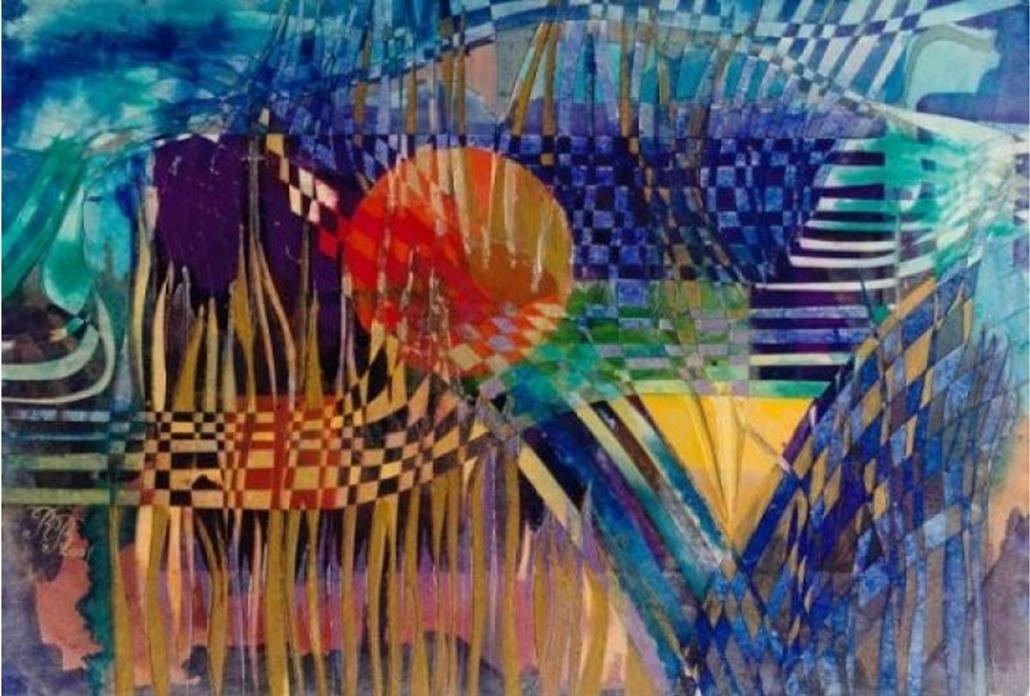 """""""Reeds"""" Thematic Painting Rumyanka Bozhkova"""