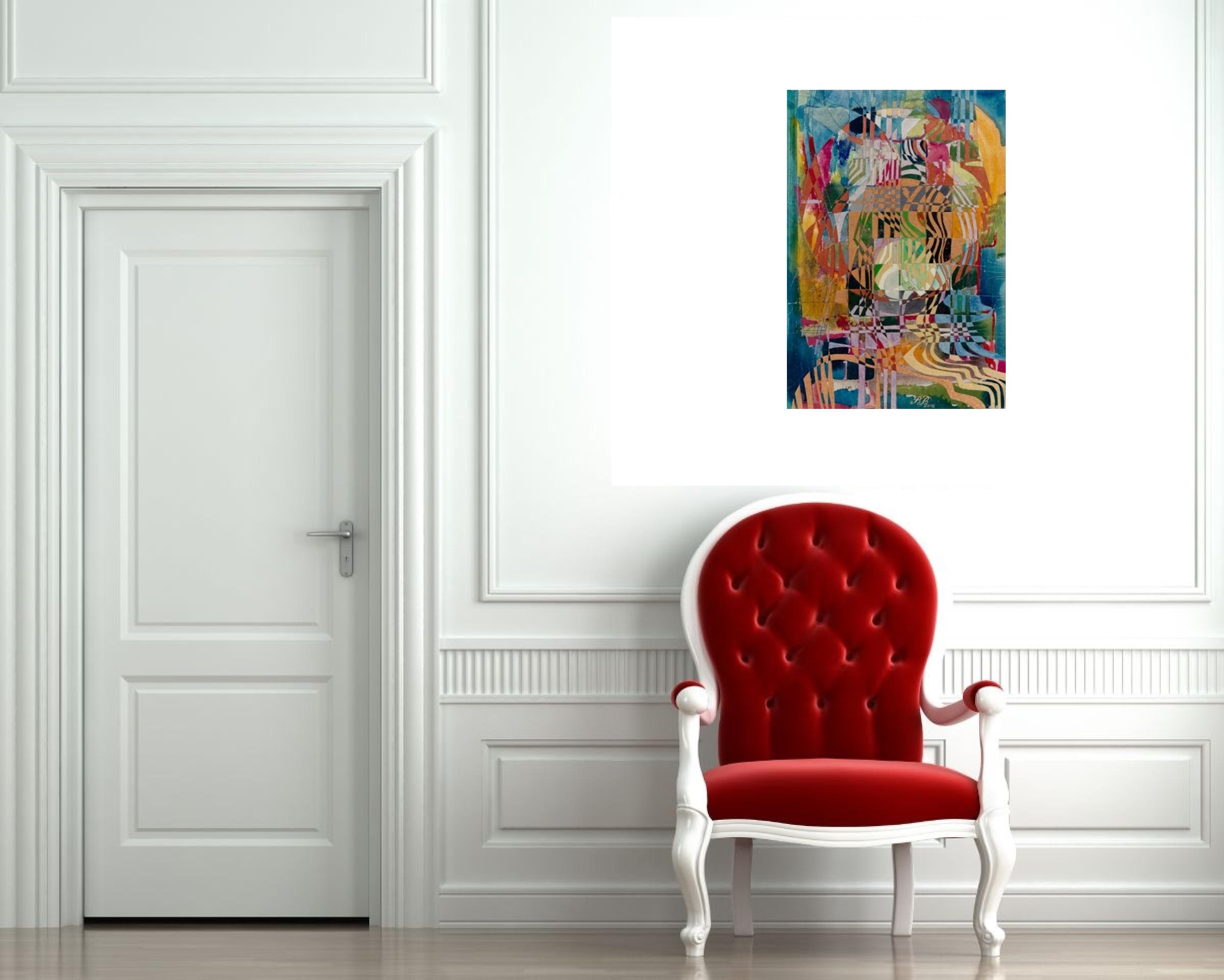 """The Bandaged Balloon"" Rumyanka Bozhkova Thematic Painting"