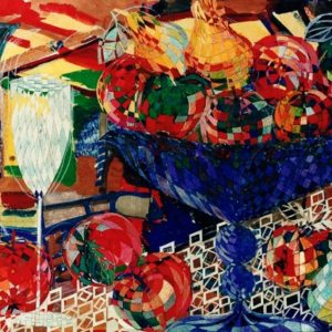 """The Blue Fruit Bowl"" Naturmort Painting Rumyanka Bozhkova"