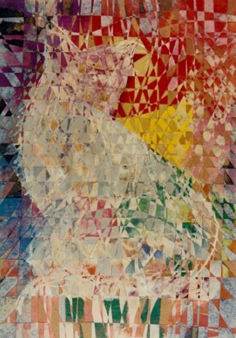 """""""White Cat"""" Rumyanka Bozhkova Thematic Paintings"""