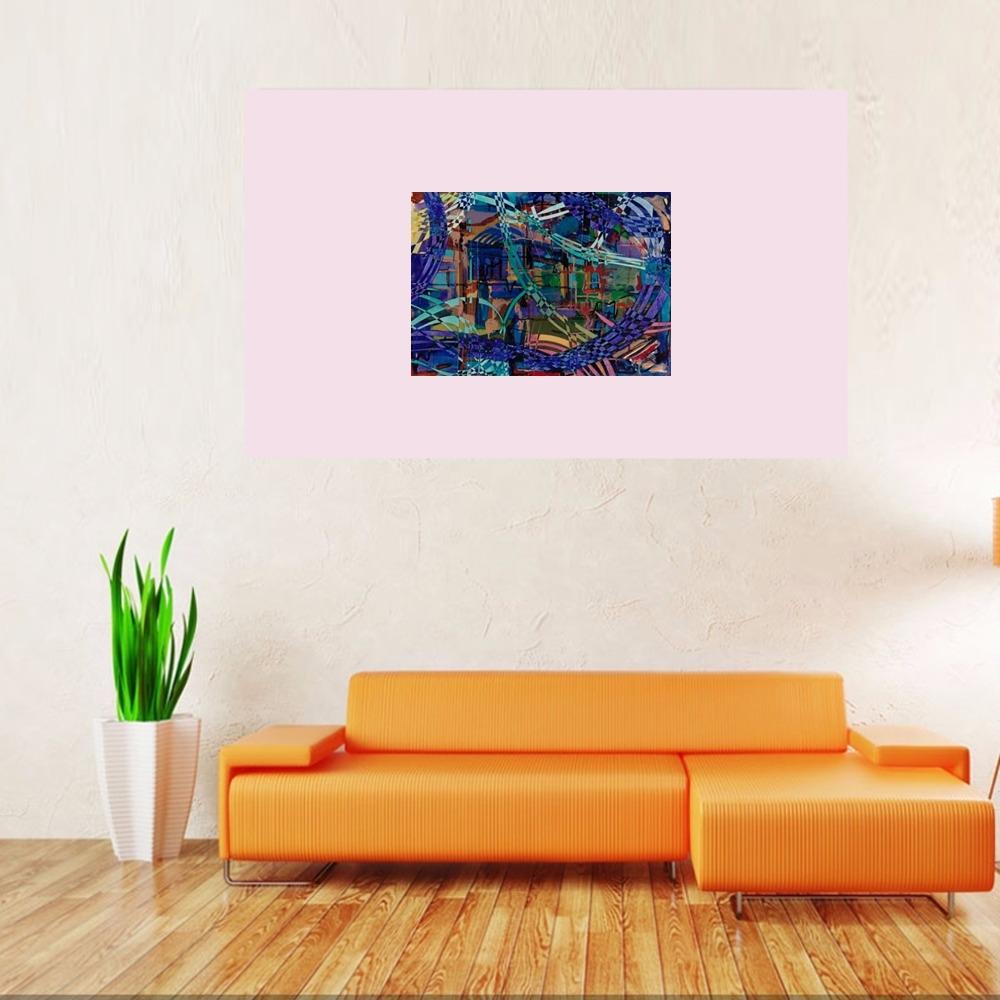 """""""Neon Night"""" Rumyanka Bozhkova Thematic Painting"""