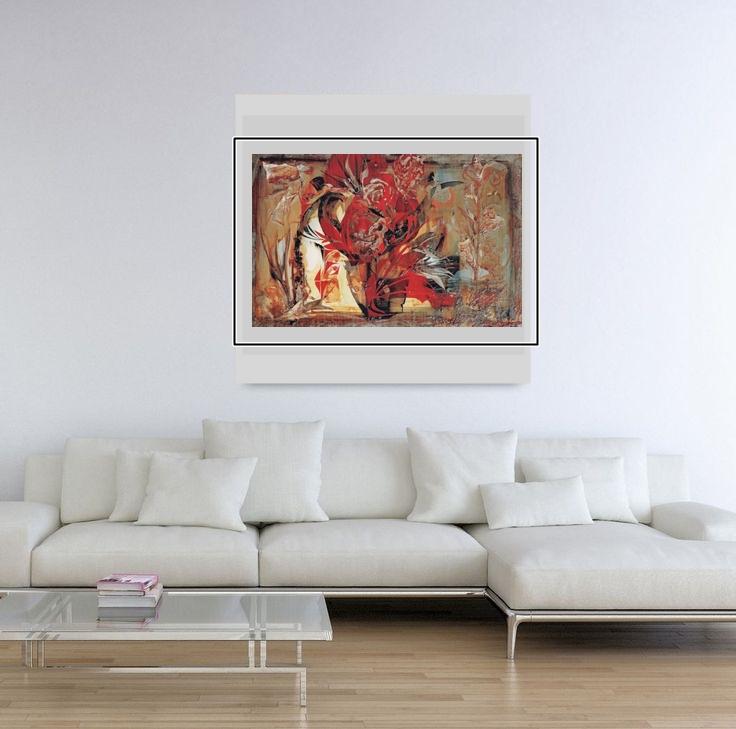 """""""Red Poppies"""" Light Panel Painting Rumyanka Bozhkova"""