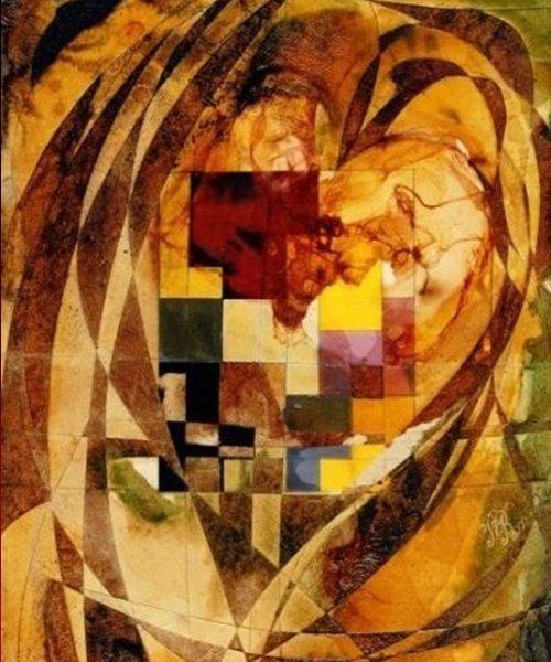 """""""Amber Heart"""" Rumyanka Bozhkova Thematic Painting"""