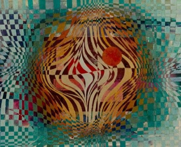 """Composition"" Abstract Painting Rumyanka Bozhkova"