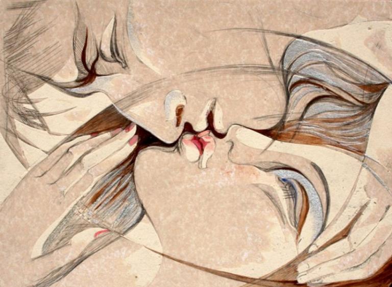 """Contemporary Romeo and Juliet"" Painting Rumyanka Bozhkova"