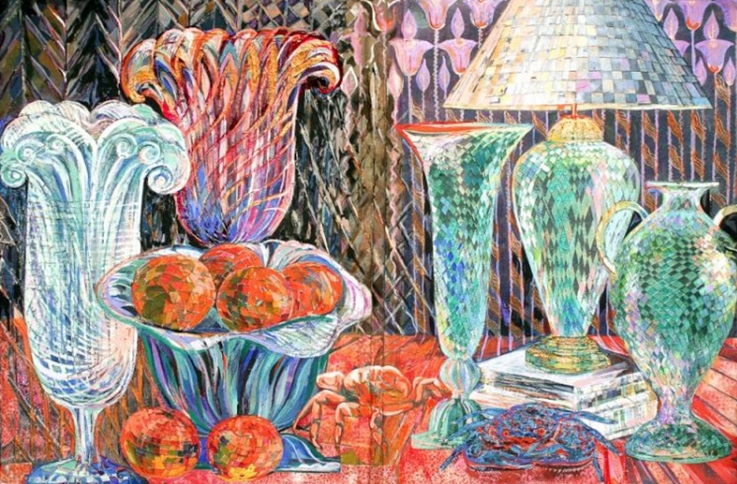 """Crystalline Vessels"" Naturmort Painting Rumyanka Bozhkova"