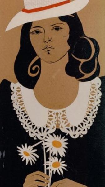 """""""Female Portrait with Daisies"""" Painting Rumyanka Bozhkova"""