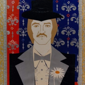 """Male Portrait with Daisy"" Painting Rumyanka Bozhkova"