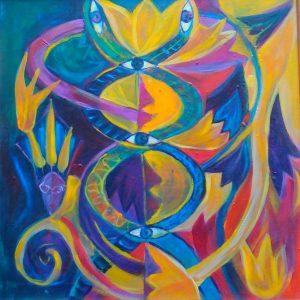 """""""Kundalini Awakening"""" Painting Eleonora Ivanova"""