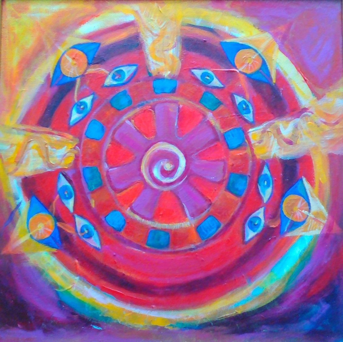 Alien Contact Painting Eleonora Ivanova