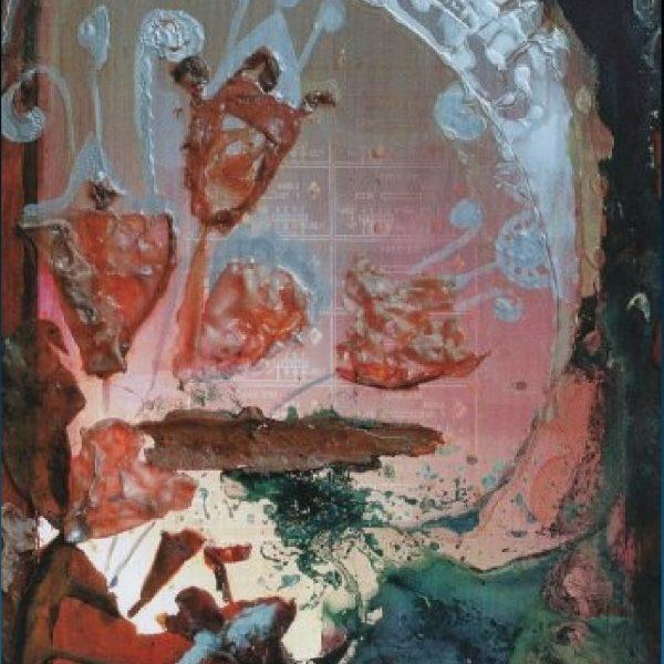"""Crystal Flowers "" Painting Light Panel Rumyanka Bozhkova"