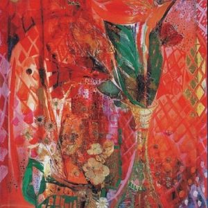 """Holiday in Red"" Naturmort Painting Light Panel Rumyanka Bozhkova"