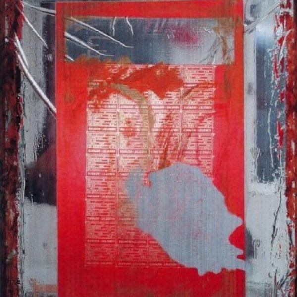 """Pink Flamingo"" Abstract Painting Rumyanka Bozhkova"