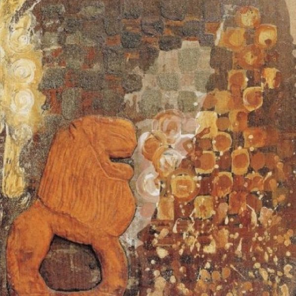 """Ritual Lion"" Painting Light Panel Rumyanka Bozhkova"