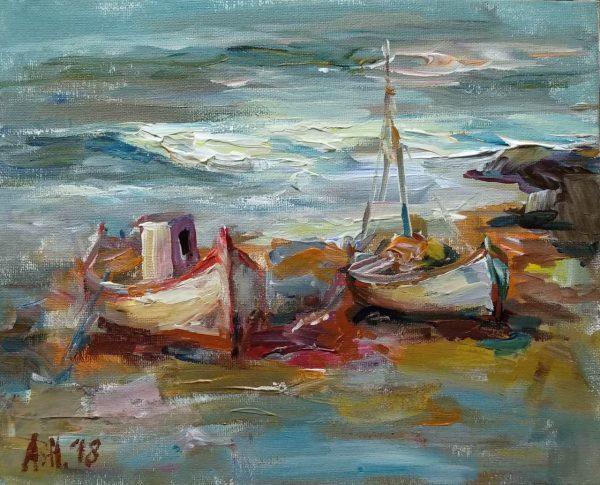 """Autumn Feeling"" Marine Landscape Angelina Nedin 2018"