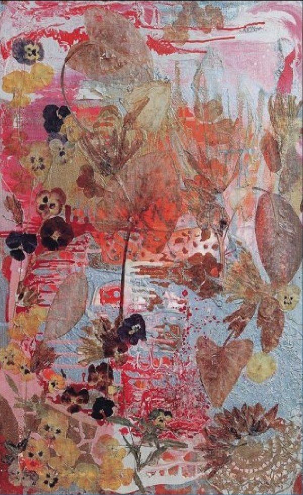 """A Wreath of Violets""Painting Light Panel Rumyanka Bozhkova"