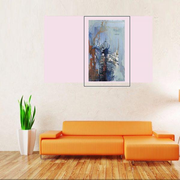 """Winter Drawings""Light Panel Painting Rumyanka Bozhkova"