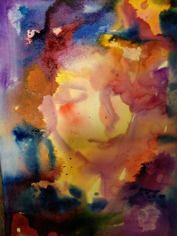 """Impression"" Angelina Nedin 2018 Watercolor Painting"