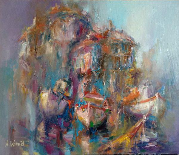 """Dream"" Landscape Painting Angelina Nedin 2021"