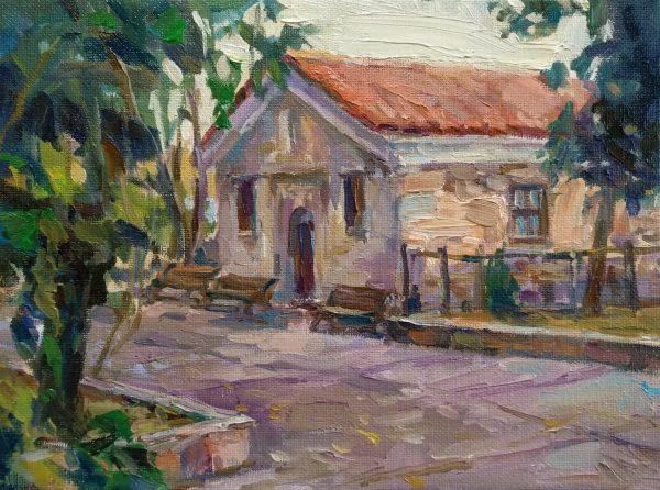 """Chapel of St. Zosimus"" Painting Angelina Nedin 2021"
