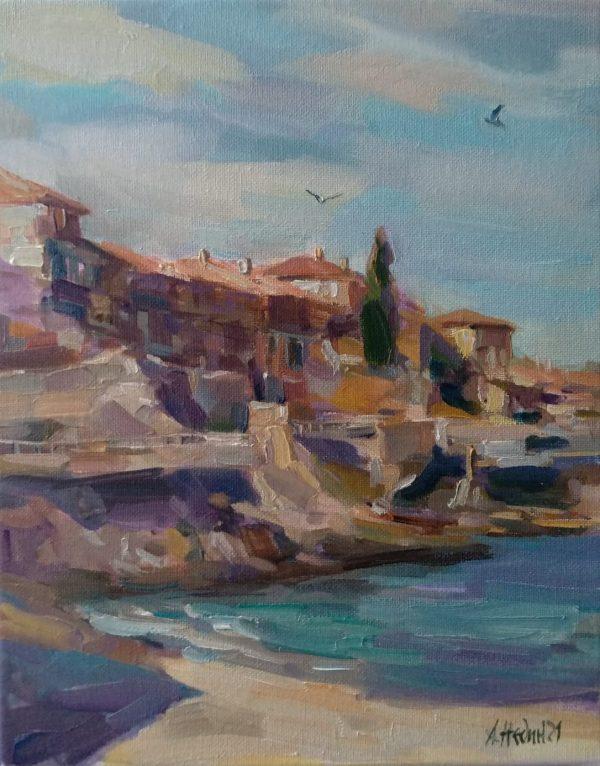 """Sozopol"" Seascape Painting Angelina Nedin 2021"