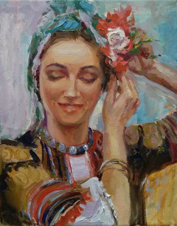 """Bulgarian Girl"" Painting Angelina Nedin 2021"