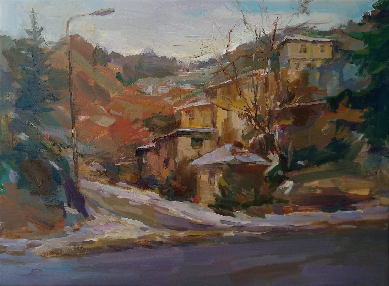 """By the Roadside"" Landscape Painting Angelina Nedin 2021"