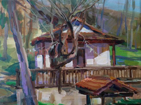 """""""Chapel of the Holy Marina"""" Painting Angelina Nedin 2021"""
