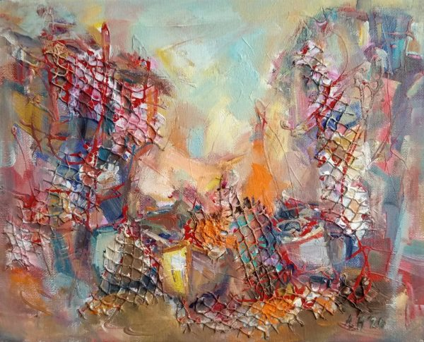 """Fishing Nets"" Painting Angelina Nedin 2021"