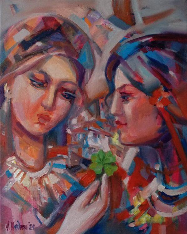 """""""Girls"""" Painting Angelina Nedin 2021"""