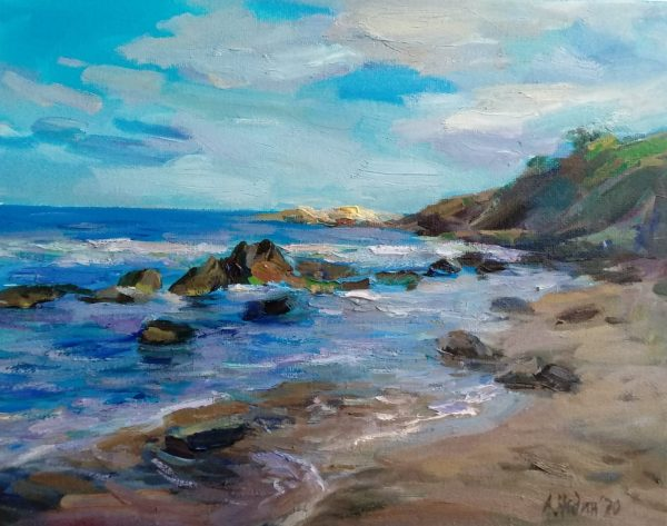 """Gulf"" Painting Maritime Art Angelina Nedin 2021"