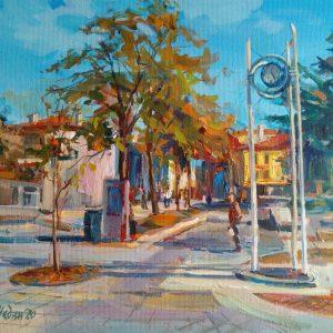 """"""" Burgas"""" Landscape painting Angelina Nedin 2020"""
