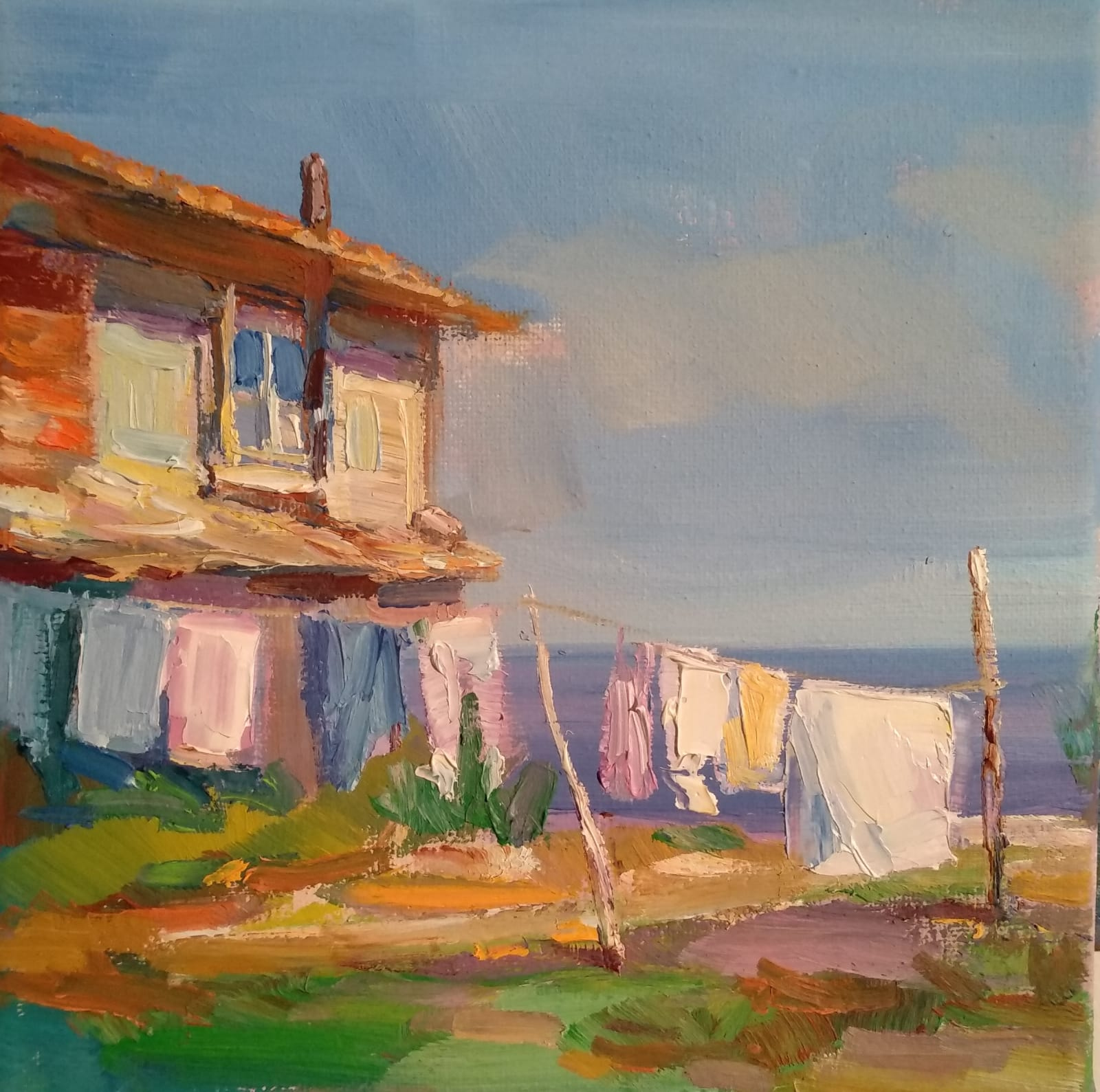 """Noon"" Painting Angelina Nedin 2021"